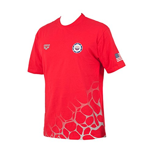 Arena Usa Swimming T-Shirt, Red, Large