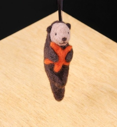 Made in The USA. WoolPets Sea Otter Wool Needle Felting Craft Kit