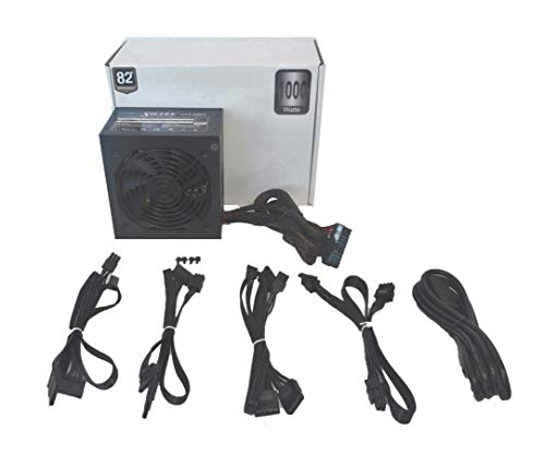 SHARK TECHNOLOGY® 1000-Watt Modular 80plus Efficient Active PFC Quiet 120mm Fan ATX 12V Power Supply, Compatible with Intel Core i3, i5, i7 and AMD FX-series A6 6-core, 8-core, Ryzen Desktop Gaming PC System