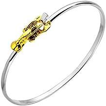 Lobster Bracelet Latch Cuff TwoTone by Cape Cod Jewelry-CCJ