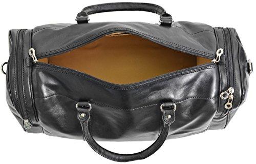 Gusti Cuir studio sac de voyage en cuir made in Italy bagage cabine sac de sport sac à bandoulière sac avec anses cuir naturel cuir de vachette vintage unisexe marron 2R15-97-3 tagynoPQaP