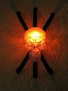 Clear Skull Wall Sconce