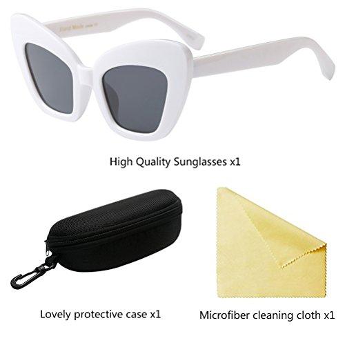 Conducción Al Gafas Gafas de Style5 Zhhlinyuan Aire Fiesta Mujer Libre White Viaje para Diseñador Hombre Vintage Sol de ESqEBxOwY