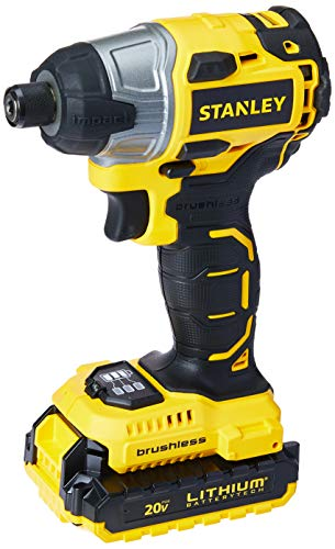 Parafusadeira de Impacto Brushless Stanley 20V Amarelo/Preto 1/4