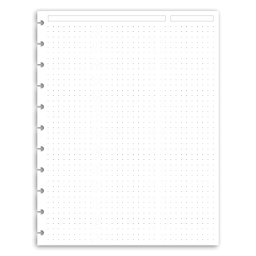 vyweight Letter Discbound Notebook Paper Refills Punched for Circa, Arc, TUL ()