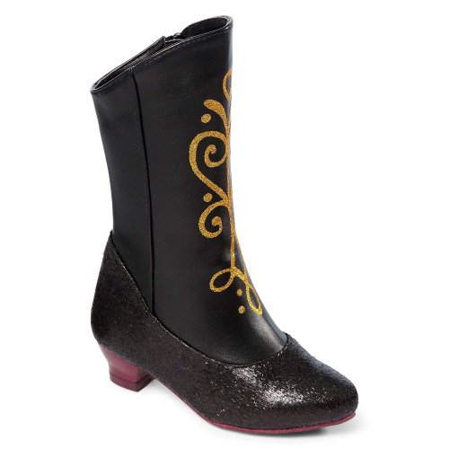 Disney Frozen Princess Anna Black and Gold Costume Boots (2/3) ()