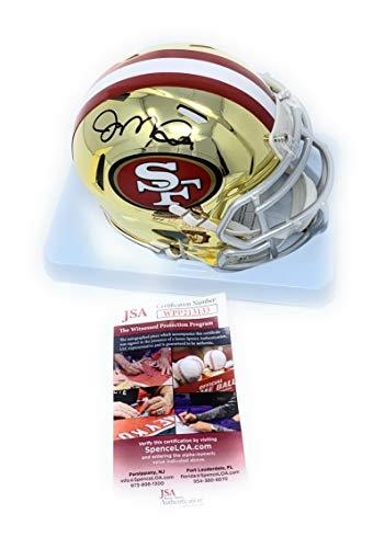 Joe Montana San Francisco 49ers Signed Autograph CHROME Speed Mini Helmet JSA Witnessed Certified