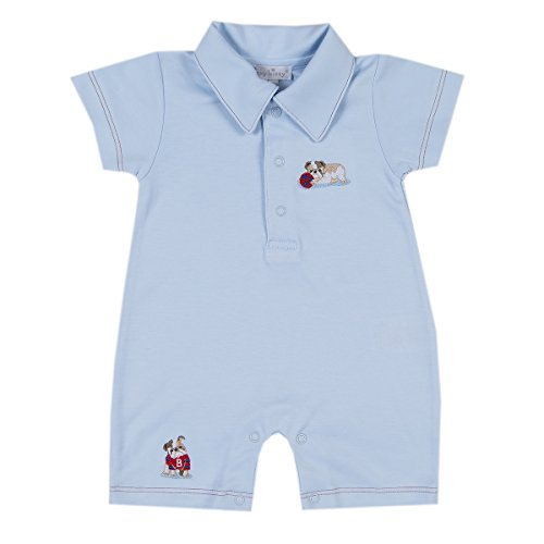 Kissy Kissy Baby-Boys Infant Burly Bulldogs Short Playsuit With Collar