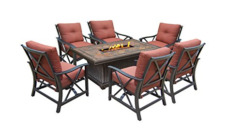 Used, Oakland Living Vienna Gas Chat Set with Firepit Table, for sale  Delivered anywhere in USA