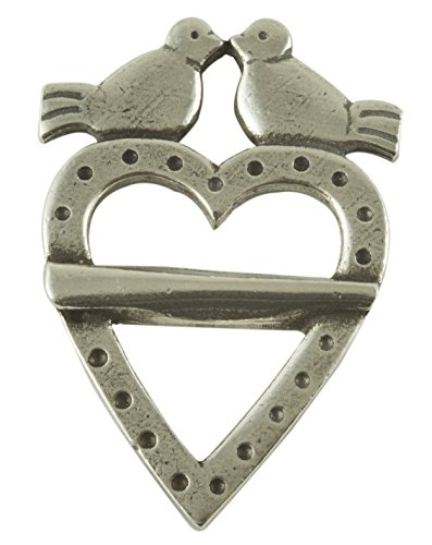 Hjertesolje Liten Simple Dove and Heart Pin Brooch (Simple Renaissance Dress Patterns)