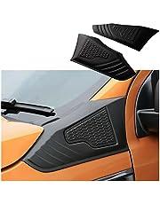 FangH 2 stks Auto Side Vent Hood Guard Decoratie Trim Fit for Ford Ranger T6 T7 2016 2017 2018 2019 2020 (Color : Matt black)