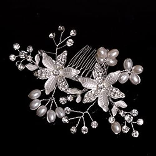 FLOW ZIG Alloy Hair Combs With Imitation Pearl/Rhinestone Wedding/Party Headpiece