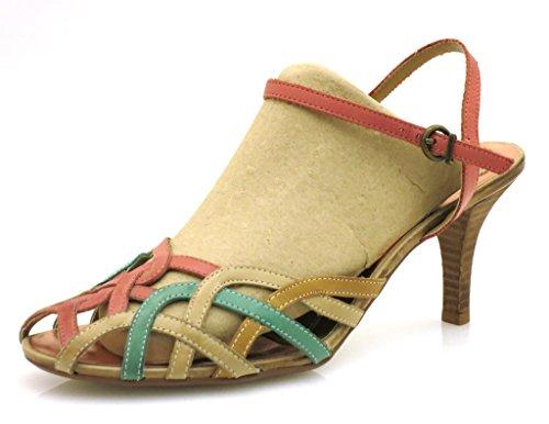 Scarpe Tacco Donna Signora Di Vita Sandalo Cuoio Dolce Alto Col BtWX6xqw