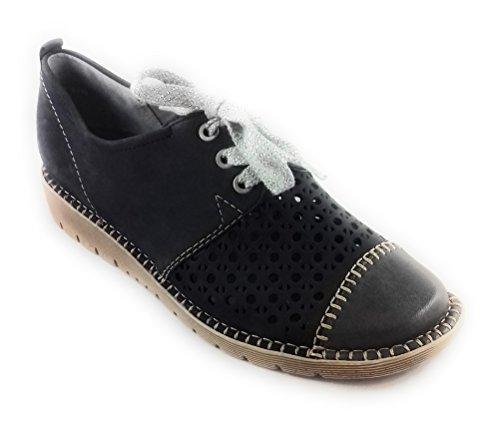 Mujer Zapatos para Azul Cordones Azul de Jenny 6RqwSxz6