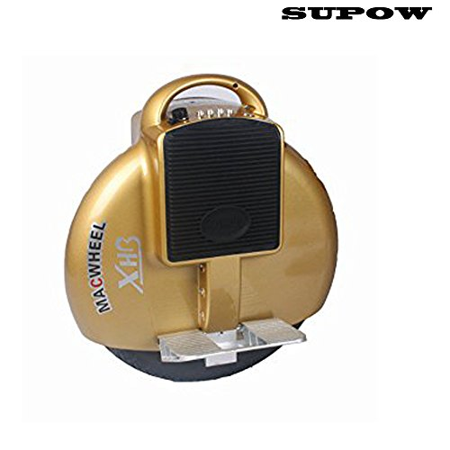 SUPOW(TM) Newest Upgrade Self Balancing Electric Motorized Unicycle One Wheel Outdoor Scooter Bicycle 9.8KG with U.S. Charger (Golden)