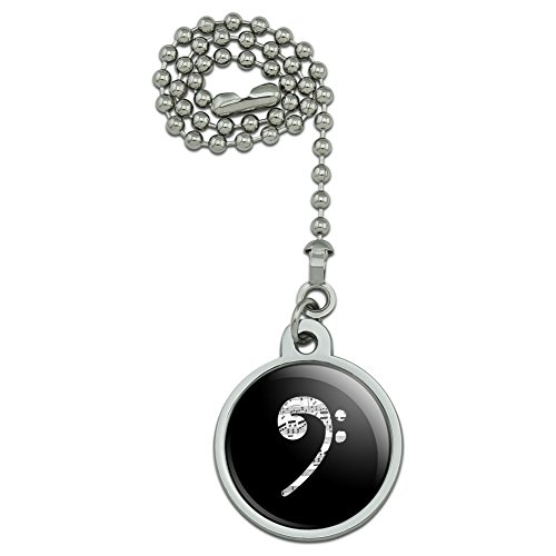 GRAPHICS & MORE Sheet Music Bass Clef Music Ceiling Fan and Light Pull Chain