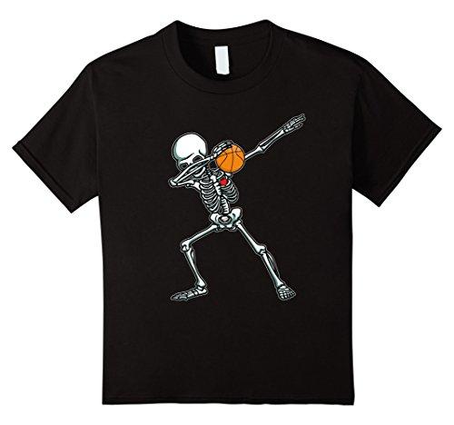 Halloween Costume Basketball (Kids Halloween Dabbing Skeleton Basketball TShirt Funny Dab Dance 10)