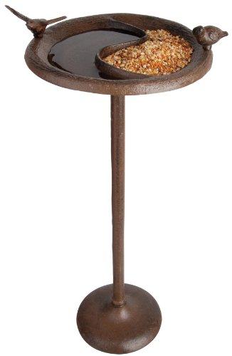 Esschert Design Birdbath Feeder Stand Antique