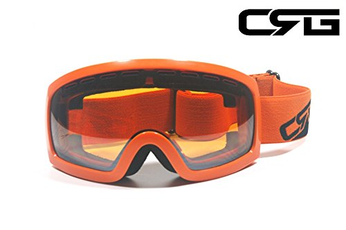 CRG Sports Anti Fog Double Lens Ski Goggles, Snow Goggles, S