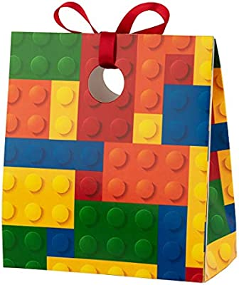 Fill with Your Treats /& Gifts Create A Box Treat Bags for Kids Happy Birthday Party Favors for Boys /& Girls 12 Mini Treat Boxes Per Pack Lego-Style Blocks Themed