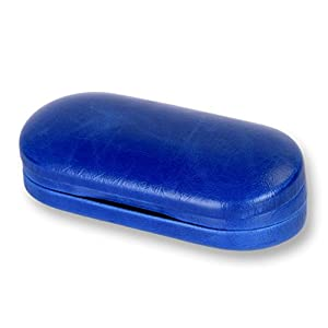 Eye Glasses Case and Contact Lens Case 2 in 1 Double Use Travel kit (Blue)
