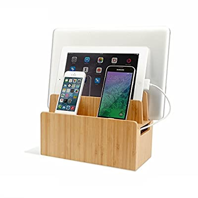 MobileVision Bamboo Stands Charging Organizers