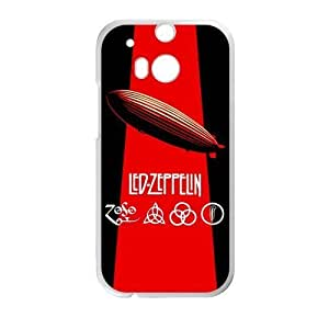 WXSTAR Fashion Led Zeppelin Custom Case for HTC One M8 (Laser Technology)