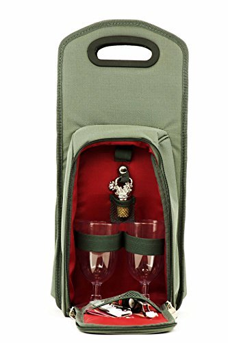 Wine-Carrier-Tote-Bag-7-Pcs-Insulated-Wine-Bottle-Holder-or-Wine-Case-Picnic-Set-Red-Grey
