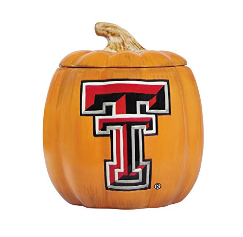 Cumberland Designs Texas Tech Ceramic Pumpkin Treat Jar]()