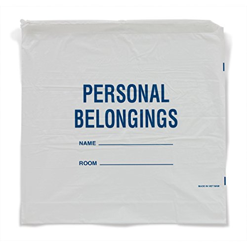 Patient Personal Belongings Bags Drawstring White by CeilBlue (Image #1)
