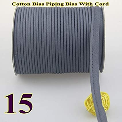 Color: 10 Fresh Green 50yds bias Tape with Cord DalaB -Cotton Bias Piping,Piping Tape Size:12mm,1//2 50yds,for DIY Garment Handmade,Various Color -
