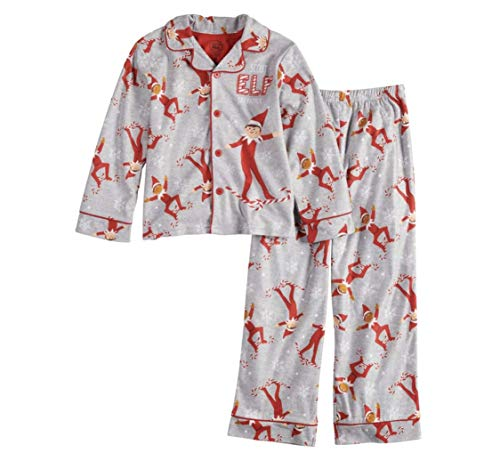 Boys Elf On The Shelf 2-Piece Pajamas Scout Elf Ski Patrol (8) Gray