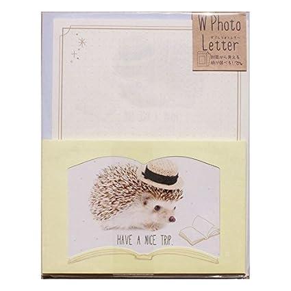 Bonito juego de papel de carta con erizo de Crux Japón ...