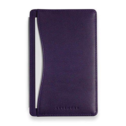 Leather Index Card Holder (Levenger Shirt Pocket Briefcase Purple (AL5945 PU NM))