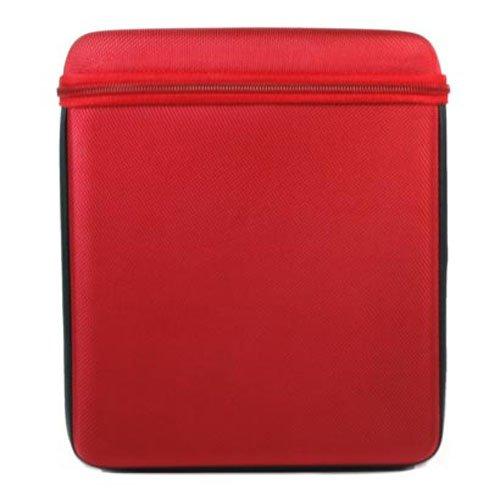 - Kroo Carbon Axis Carbon Fiber EVA Apple iPad Case (Red)