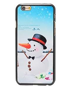 YULIN navidad zanahoria estilo muñeco de nieve nariz pattern pc contraportada dura para el iphone 6
