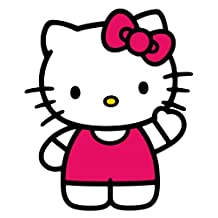RoomMates RMK1679GM Hello Kitty The World of Hello Kitty Peel and Stick Giant Wall Decals