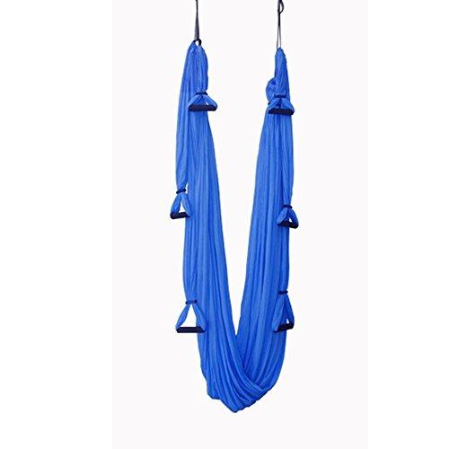 Wenbiaoxue Wenbiaoxueanti-gravity Aerial Yoga Flying Hamac sling stretch avec 6poignées et 2Daisy Cordes, 150*280cm