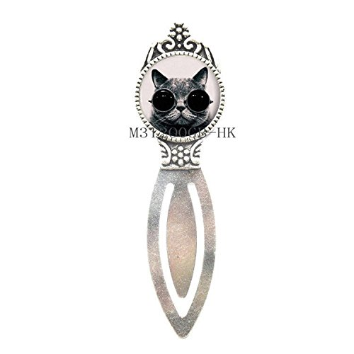 Charm Silver Bookmarks (Cat Bookmark, Cat Jewellery, Cat Gifts, Silver Charm Bookmark, Animal Bookmark, Cat Pendent, Silver Bookmark-MT356 (W1))