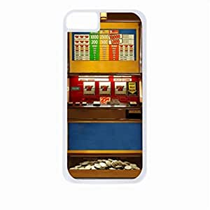 Vintage Slot Machine-Casino- Case for the Apple Iphone 4-4s Universal-Hard White Plastic Outer Shell with Inner Soft Black Rubber Lining wangjiang maoyi