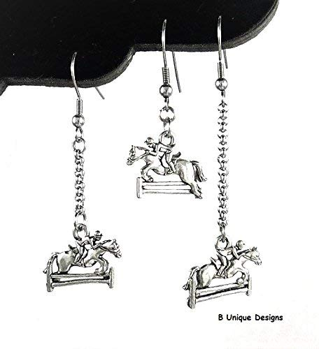 Horse Jumping Rails Riding Charms Add Long Rolo Chain Add Birthstone Crystal Equestrian Rider Women's Handmade Horses Jewelry