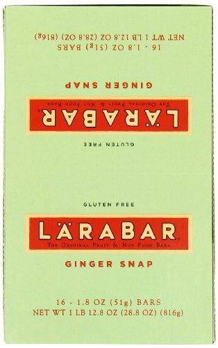 LARABAR Fruit & Nut Food Bar, Ginger Snap, Gluten Free (Pack of 16)