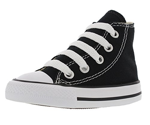 Converse Clothing & Apparel Chuck Taylor All Star High Top Kids Sneaker, Black, 8 -