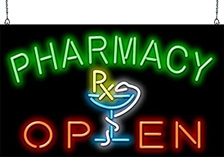 Pharmacy Open Neon Sign - Picture Lights - Amazon.com