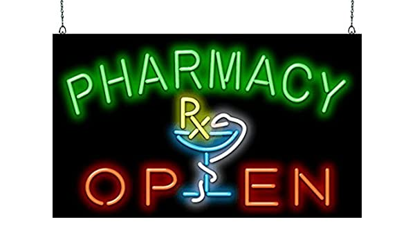 Pharmacy Open Neon Sign - Picture Lights - Amazon.com