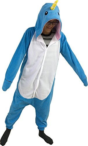 Foresightrade Adults and Children Animal Narwahl Cosplay Costume Pajamas Onesies Sleepwear (120#, (Narwhal Costumes)