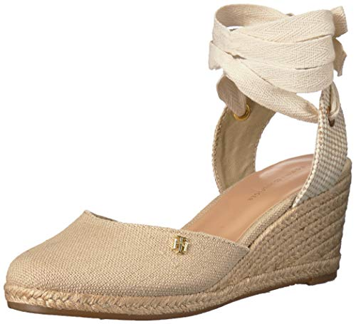 Tommy Hilfiger Women's Nowell Espadrille Wedge Sandal, Natural, 7.5 M US