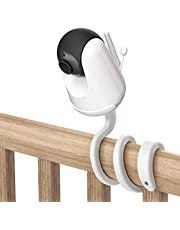 Universal Baby Monitor Mount for VAVA Baby Monitor - Versatile for Any Other Cameras with 1/4 Screw Twist Holder Without Tools or Wall Damage(1-Pack,White)