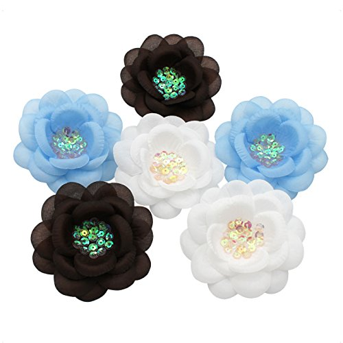 Sara Monica, Bella Flor Tomboy, pack of 6 flower clips