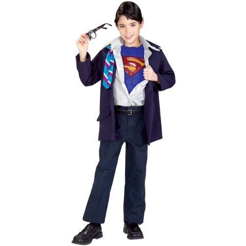 Clark Kent to Superman Muscle Chest Child's Costume, Large -